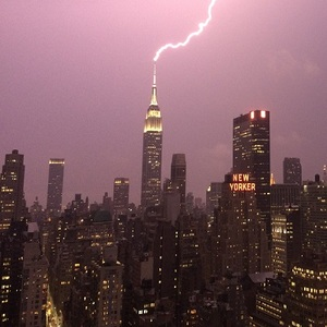 Empire State Building Struck by Lightning